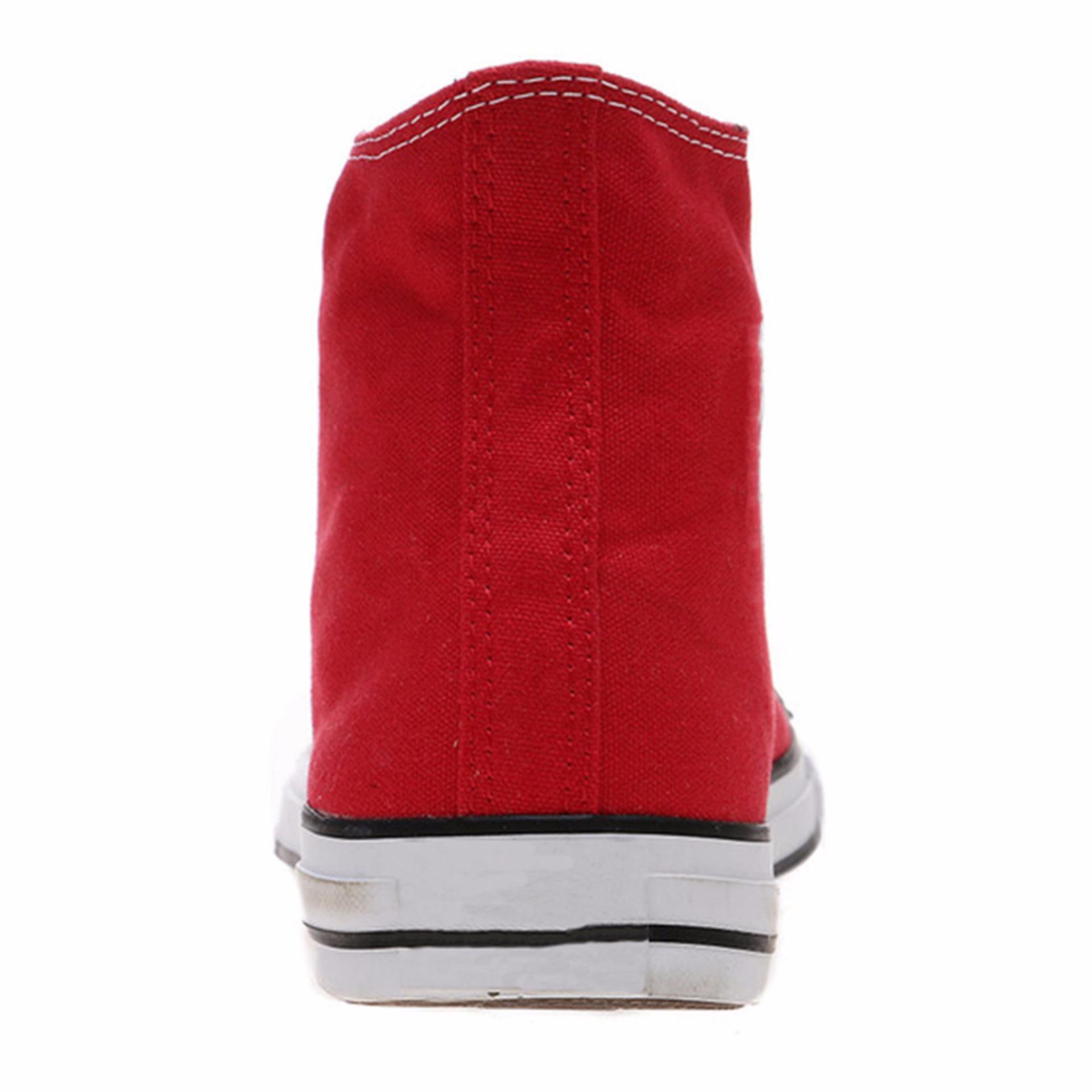 Ayako Fashion CV - 09 Point Hi Classic Unisex Sneaker - (Red .