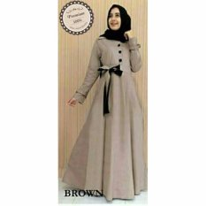 Ayako Fashion Dress Maxi Elena - (Brown)