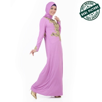 Ayako Fashion Dress Muslim Maxi Safrina - (Ungu)