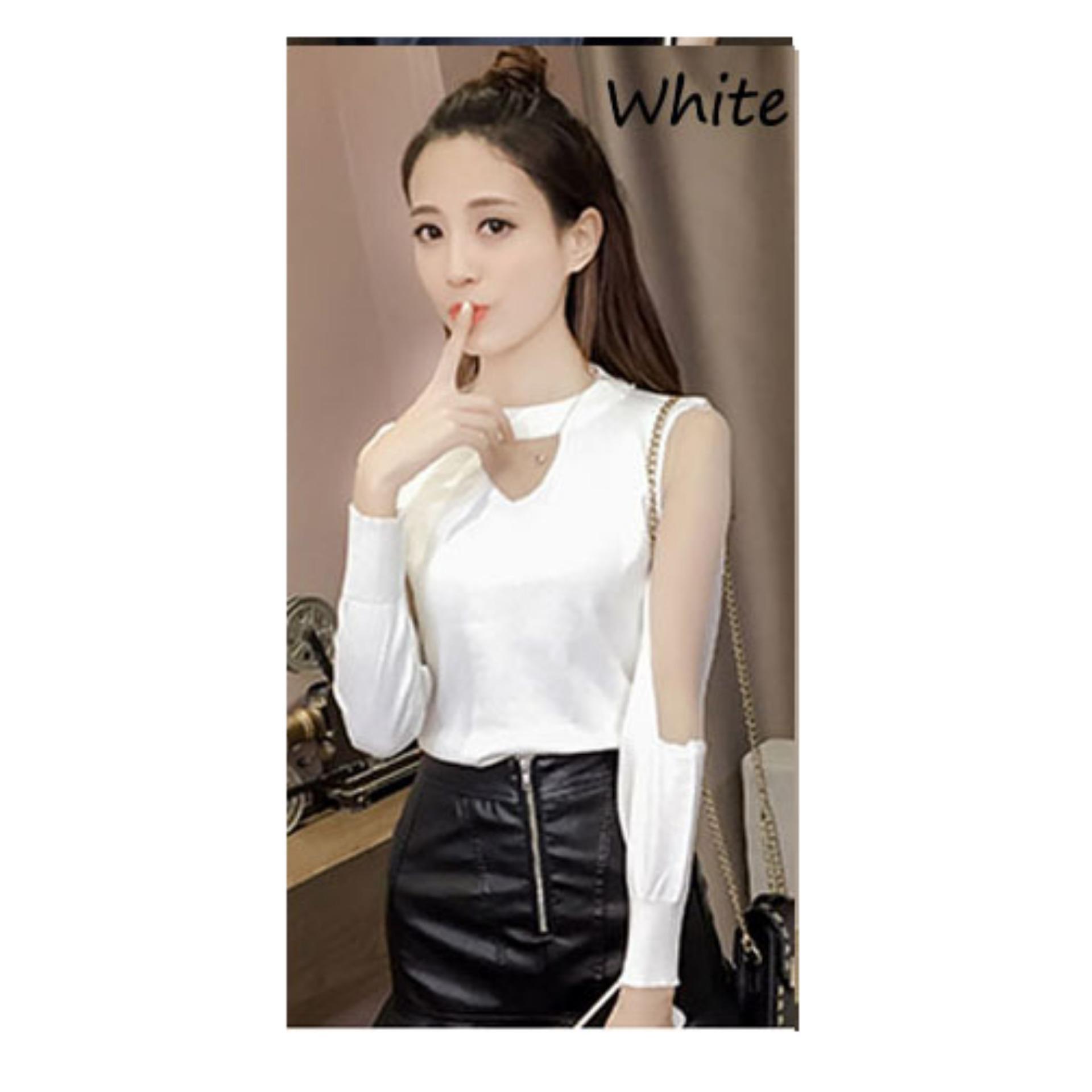Azure Fashion Mery Atasan Sabrina Wanita Navy Daftar Harga Terbaik Blazer Panjang By Ayuka Un Dark Grey Blouse Source Juliet Top White