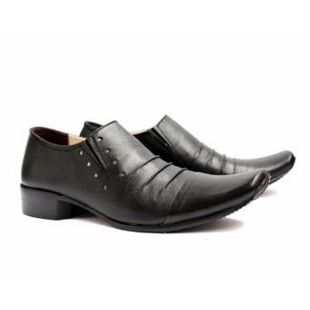 B A E WEAH Sepatu Pantofel Pria Formal / Sepatu Kulit Asli Pria Pantofel / CEVANY PHELREM ( HITAM ) - 2