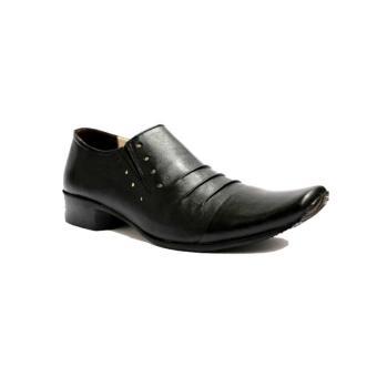 B A E WEAH Sepatu Pantofel Pria Formal / Sepatu Kulit Asli Pria Pantofel / CEVANY PHELREM ( HITAM ) - 4