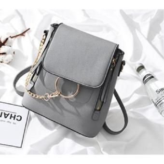Korean Fashion Style Babosarang Tas Batam Ransel Selempang Backpack Wanita  Cewek Korea Fashion Multifungsi Bahan PU 82a5c87ead