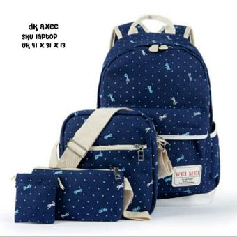 Backpack 4 in 1 Polka Ribbon (Backpack / Tas Ransel, Sling Bag /Tas