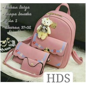 Backpack Set Korean Style 3 In 1 Double Clasp Backpack Tas Ransel 3 .