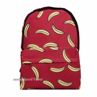 Backpack/Tas Punggung/Tas Ransel/Ransel Travelling / Tas Sekolah /Ransel Sekolah - Wanita / Pria ( 3P Banana Karakter) - Red, 52.250, Update. Unlimited tas ...