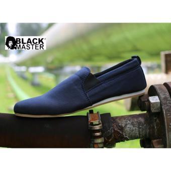 Gambar BAE WEAH Sepatu Casual Pria slip On Pria Blackmaster Ozil ( navy ) 29e8aa1ca7
