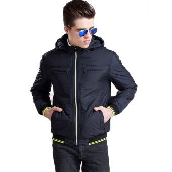 Bafash New Men Casual Jacket Zipper Pocket Detachable Black