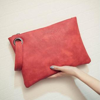 Baik Fashion Wanita Tas Kulit Kokoh Kopling Amplop Evening Bag Tas Tangan