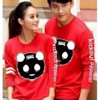 Baju Couple Lengan Panjang / Kaos pasangan / Kopel Panda