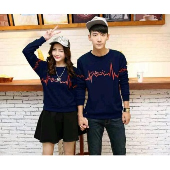 Baju Couple Lengan Panjang / Kaos pasangan / Kopel Simple Signal