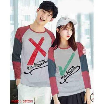 Baju Couple Lengan Panjang / Kaos pasangan / Kopel True False
