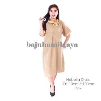 Baju Hamil Gaya - NOBELIA DRESS KUNING KUNYIT - Dress Hamil Baju Menyusui Murah .