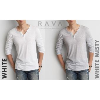 Baju Kaos Pria Henley Lengan Panjang ORIGINAL - 2