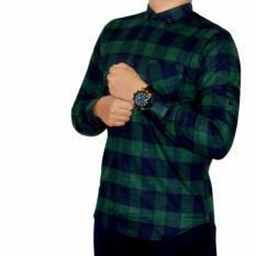 baju kemeja flanel kotak besar-hijau