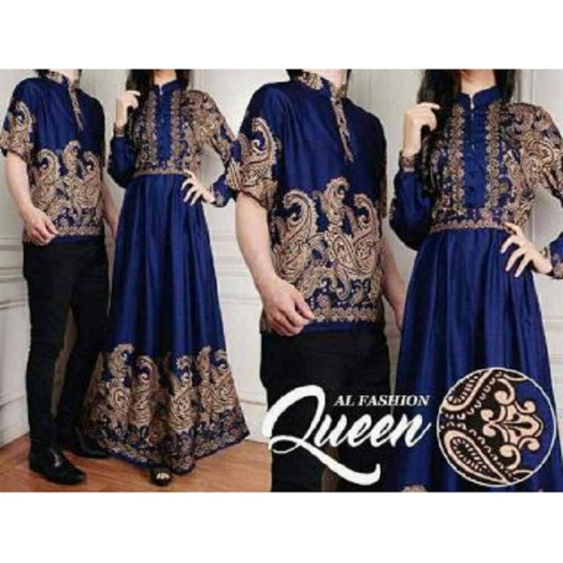 ... dress cewek) Baju Online - Pakaian Couple Muslim Batik Modern Sarimbit  Keluarga - Kemeja Koko Pria Lengan Pendek 053d2a2bb1