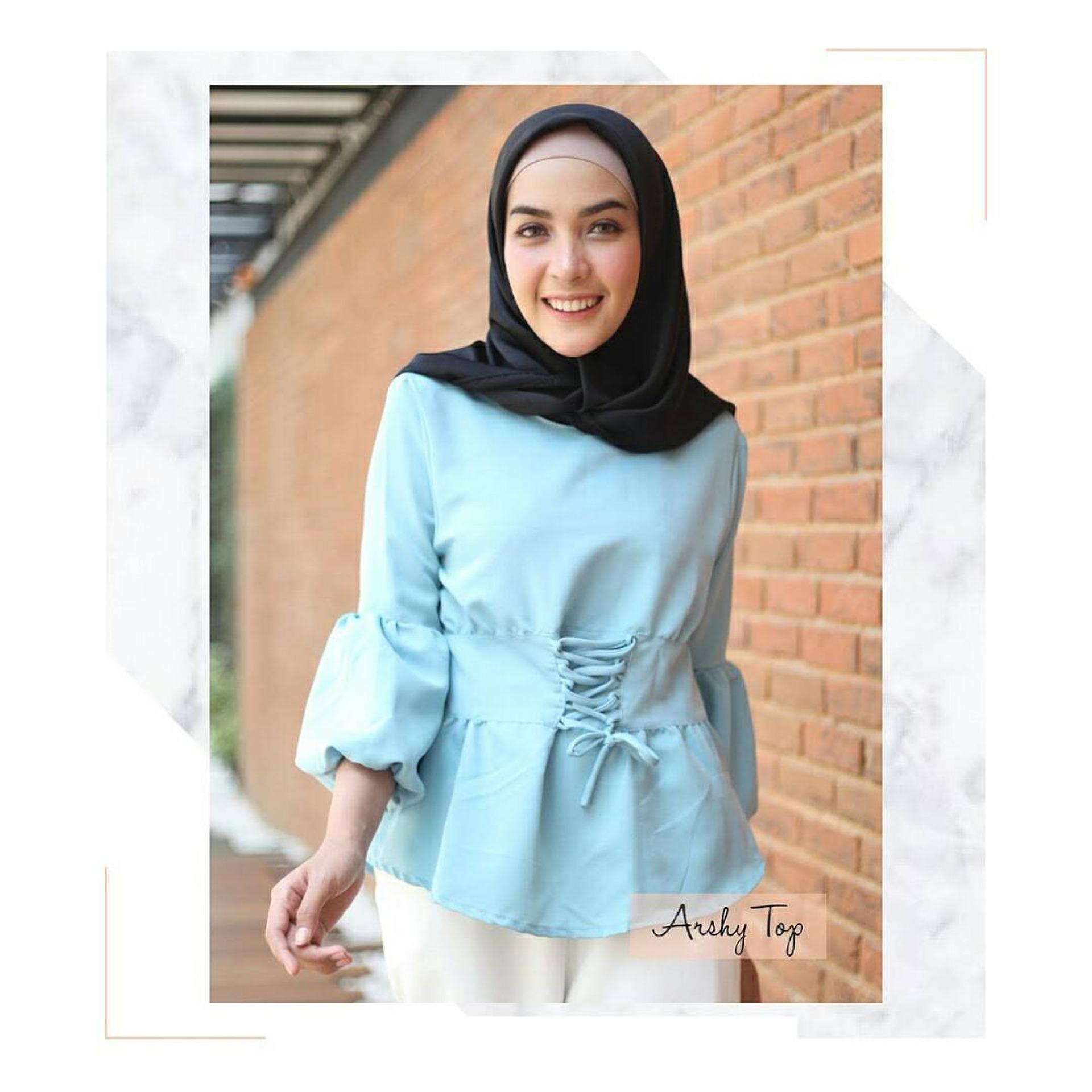 Baju Original Arshy Top Baju Blus Atasan Wanita Baju Kerja Blouse Kemeja  Perempuan Pakaian Kerja Baju 562b8c9be7