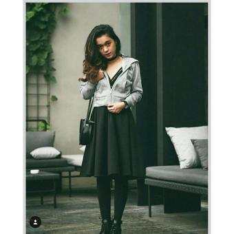 Baju Original Crop Hoddy Jaket Sweater Fleece Muslimah Hangat Zipper Hoodie Casual Jacket Atasan Wanita Light