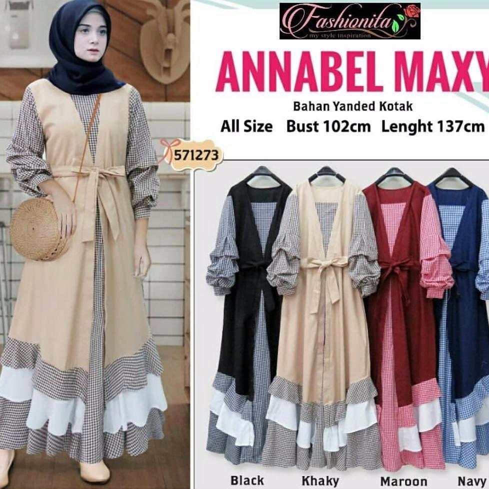 Hemat Baju Original Gamis Annabel Maxy Dress Baju Panjang Muslim