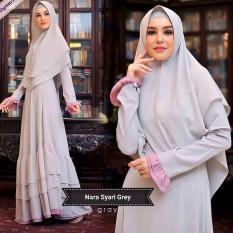 Baju Original Gamis Nara Syar i Dress Baju Panjang Muslim Casual Wanita Pakaian .