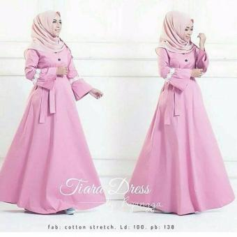 Cek Harga Baru Baju Gamis Wanita Ashinta Dress Warna Pink Terkini