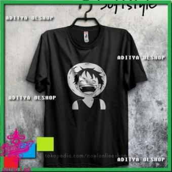 baju pakaian kaos Distro Cotton anime one piece luffy laugh
