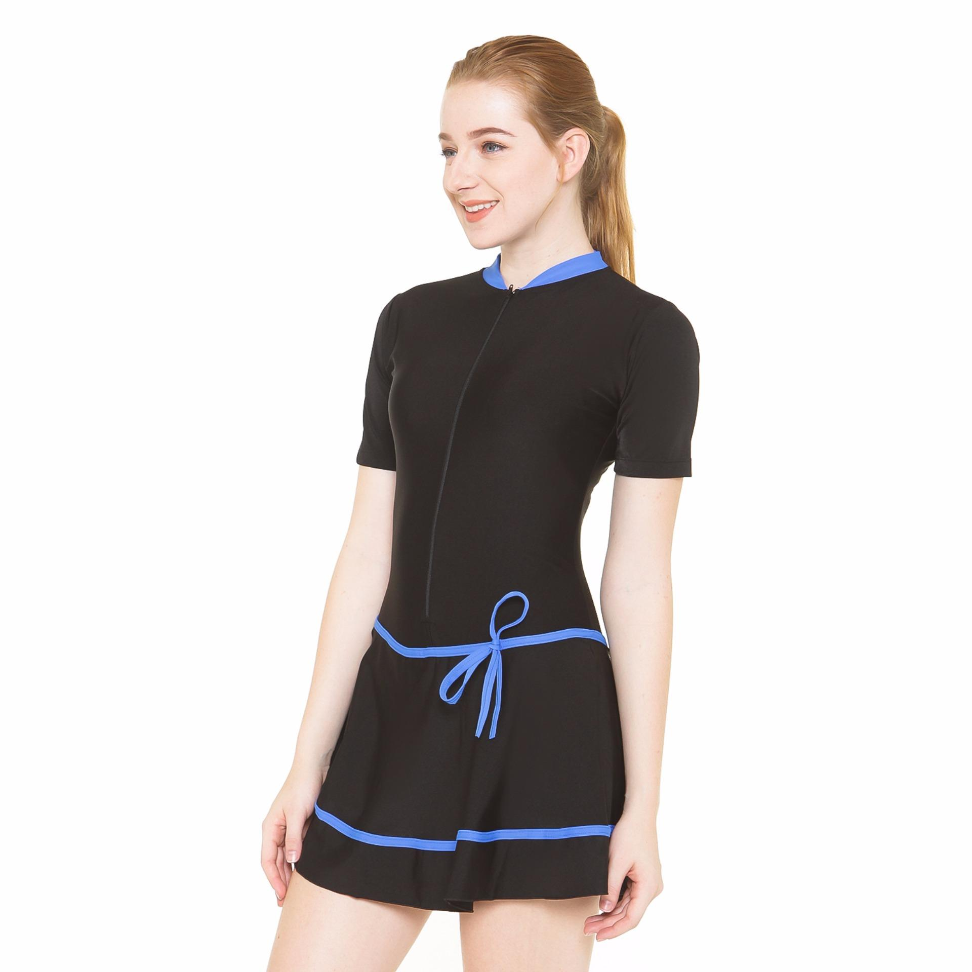 Baju Renang Wanita-HDR-1106-Hitam .