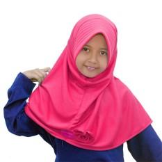 Bajuyuli - Kerudung Jilbab Anak Murah Polos Pita Cantik Pink