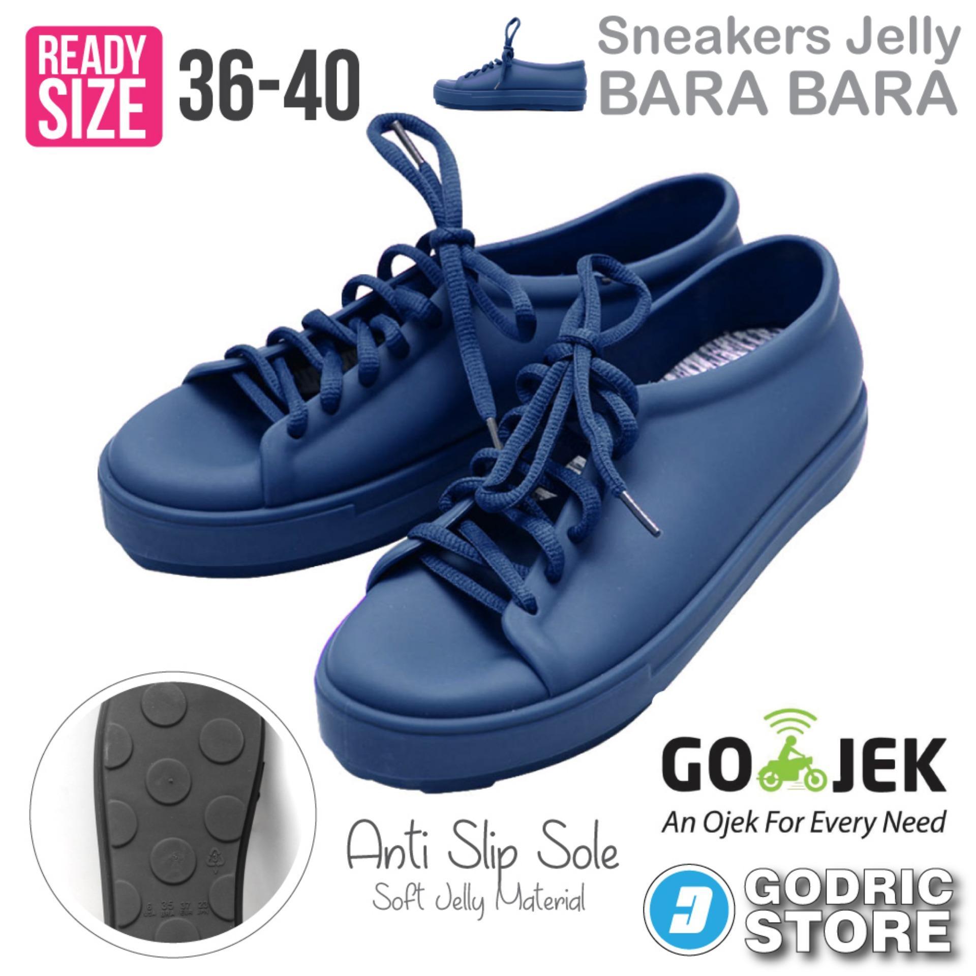 Bara Bara Sepatu Jelly Sneakers Silikon Shoes Cewek Silicone Kets DD6382ELS