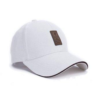 Baru 2017 unisex fashion olahraga baseball cap Topi Golf Snapback tulang  padat untuk men (putih fe6f32c0c3
