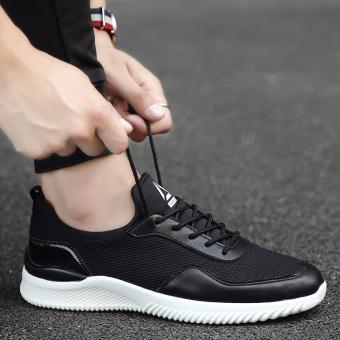 Baru musim panas Inggris pria sepatu kasual sepatu sepatu (Hitam)