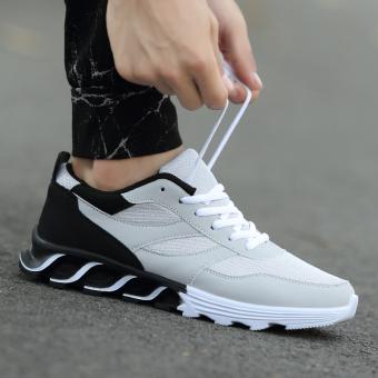 Baru remaja sepatu running sepatu pria sepatu olahraga (722-Gray)
