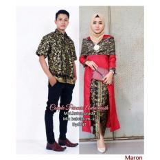 Batik Couple / Baju Batik Sarimbit Aurakasih Couple - MERAH