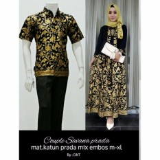 Batik Couple / Batik Sarimbit Savana Couple - HITAM