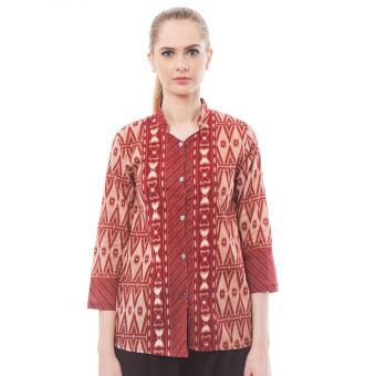 Batik Trusmi-Blus Songket Km-Merah