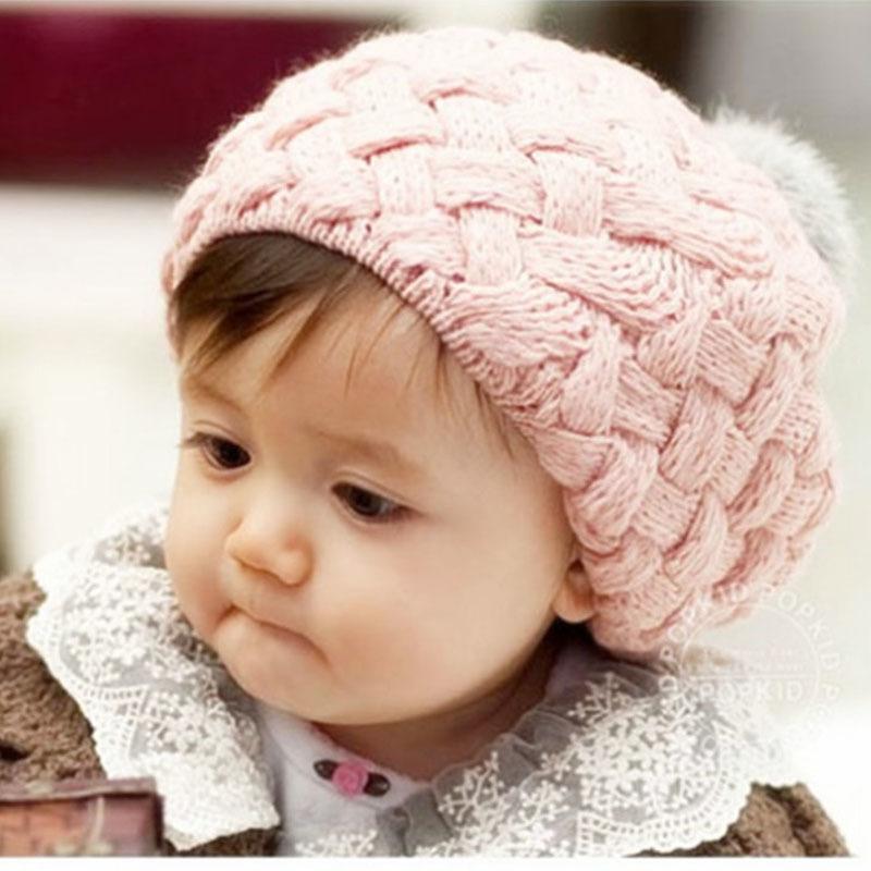 Bayi Anak Balita Imut Gadis Musim Dingin Hangat Rajutan MerajutBeanie Hat Topi Berwarna .