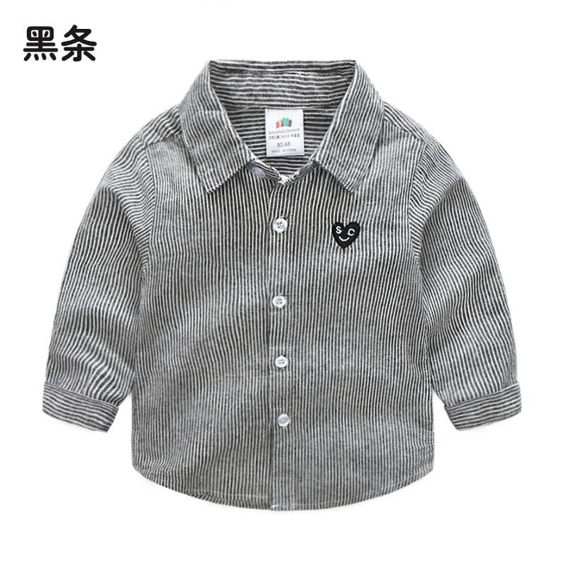 Bayi Tx-8967 Anak-anak Baru Kerah Lengan Panjang Kemeja Bergaris Kemeja (Bar