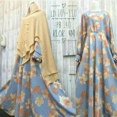 BEAUTIFUL GAMIS MONALISA MAPLE PELANGI GREY