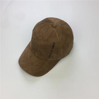 Pencarian Termurah Beberapa corduroy perempuan baru cincin topi Korea Fashion Style bisbol topi (Khaki)
