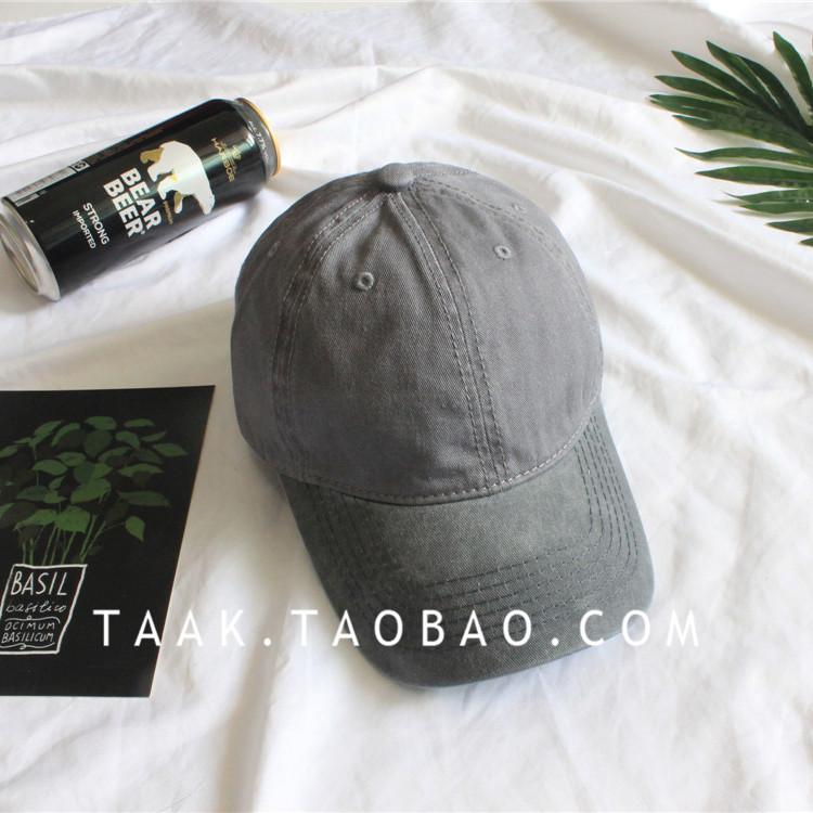 Beberapa Korea Fashion Style denim musim panas dicuci topi baseball cap (Abu-abu gelap