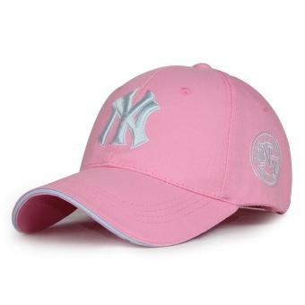 Beberapa Korea Fashion Style perempuan bisbol topi topi (Biasa ayat merah muda)