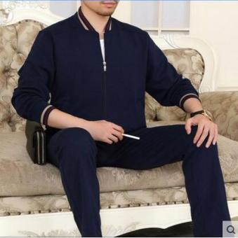 Jual Beberapa pria di musim semi dan musim gugur perempuan kebugaran olahraga pakaian (Biru) Terpercaya