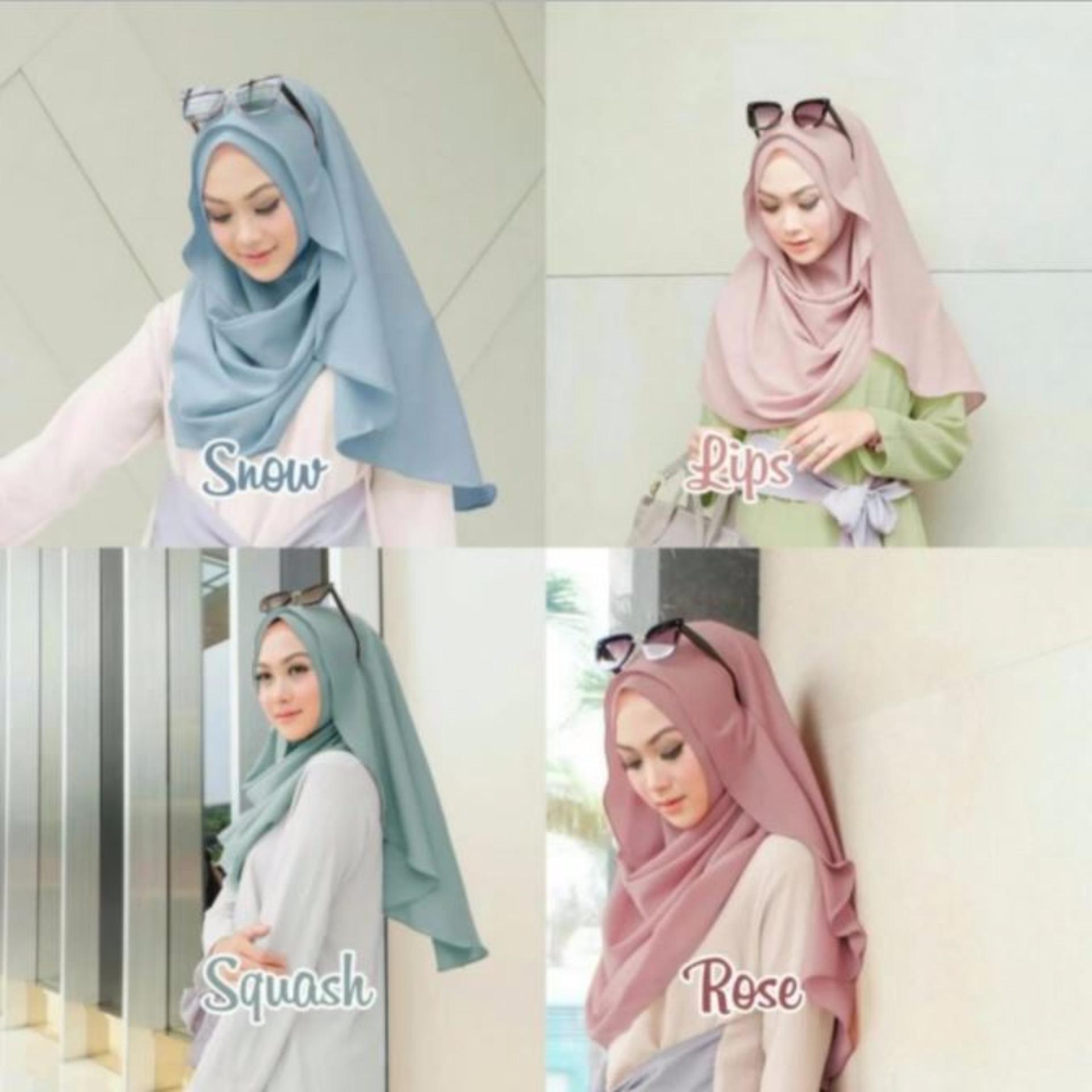 Bergo Farida Jilbab Instan Hijab Kerudung Syari Busana Khimar Syar I
