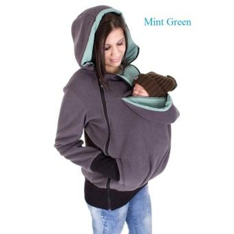 Berkualitas tinggi bahan pengental Plus jaket tebal musim dinginFashion beludru Kangaroo mantel wol untuk wanita hamil