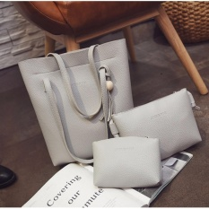 Best 3in1 Tassel Bucket Bag Leather Korean Fashion Women Handbags Shoulder Bags - ABU