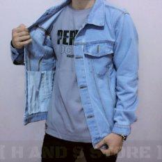 Best product jacket jeans Bioblitz -biru muda