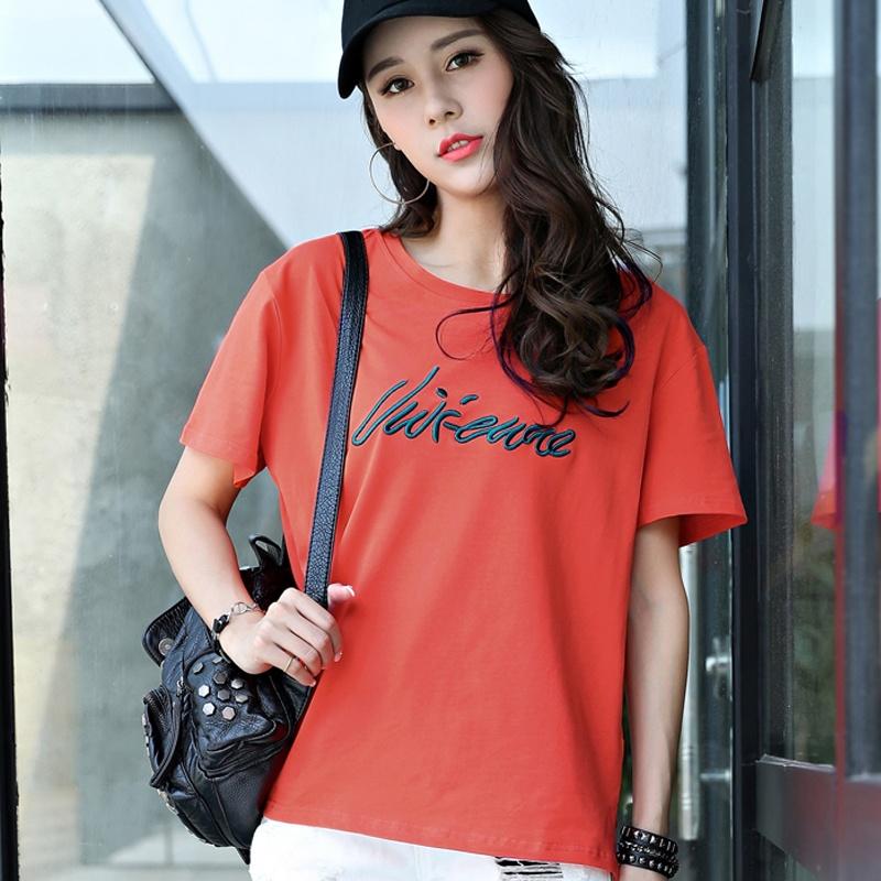 ... Giordano Jianyue Kapas Perempuan Baru Blus T Shirt 09 Logo Hitam Source BF versi Korea dari