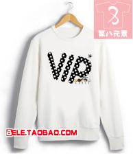 Big Bang Zhou Bian ayat yang sama lengan panjang leher bulat sweater (Untuk menghindari ukuran