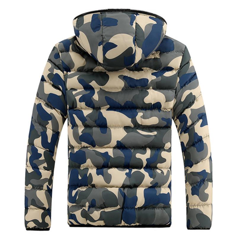 Biru Model Jaket Musim Dingin Pria Turun Ke Bawah Jaket KamuflaseDicetak Musim Gugur .