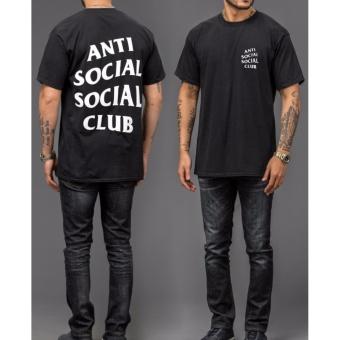 BKSPC - Kaos Anti Social Social Club Pria dan Wanita - Hitam